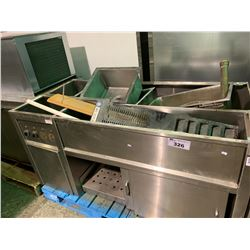 STAINLESS STEEL STEAM TABLE AND PARTS (FOR PARTS OR REPAIR)