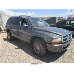2002 - DODGE DURANGO/DISMANTLE ONLY