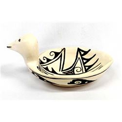 Historic Hopi Pottery Duck Bowl by Bessie Monongye