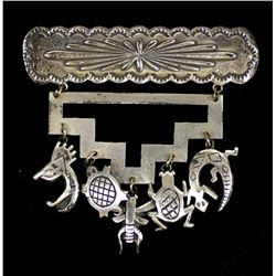Navajo Sterling Charm Pin by Teme