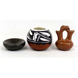 3 Miniature Native American Pots