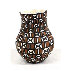 Miniature Acoma Eye Dazzler Pottery Vase, Torivio