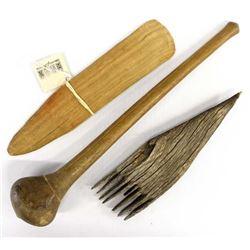 Vintage Native American Wood Tools