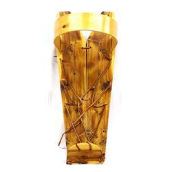 Native American Navajo Cedar Wood Cradle Board