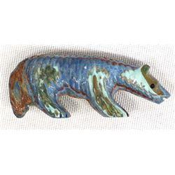 Zuni Carved Rainbow Calsilica Bushy Tail Fetish