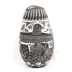Acoma Incised Pottery Vase by Frederica Antonio