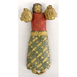 Vintage Mexican Straw Doll