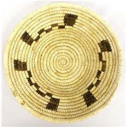 Native American Tohono O'odham 2-Toned Basket