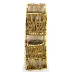Vintage Cherokee Willow Letter Holder Basket