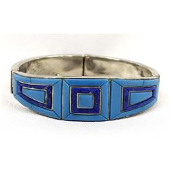 Sterling Turquoise and Lapis Bracelet
