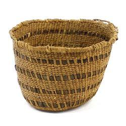 Native American Klamath 2-Toned Basket