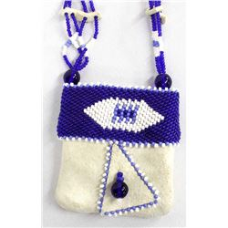 Native American Sioux Beaded Doeskin Pouch
