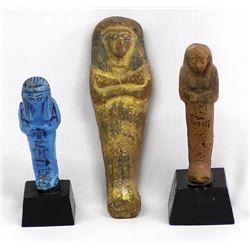 3 Egyptian Clay Sarcophagi Replicas