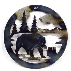 Metal Art Bear Decor