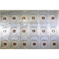 PROOF LINCOLN CENT LOT: ALL PCGS PR-69 RED DCAM