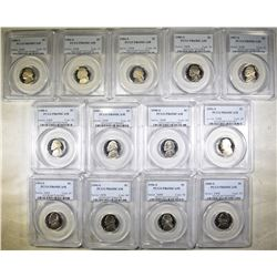 PROOF NICKEL LOT: ALL PCGS PR-69 DCAM