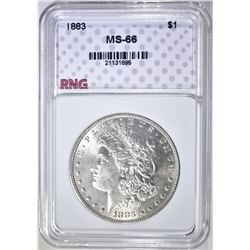 1883 MORGAN DOLLAR, RNG SUPERB GEM BU