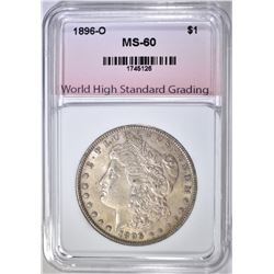 1896-O MORGAN DOLLAR WHSG BU