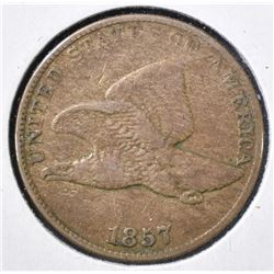 1857 FLYING EAGLE CENT VF