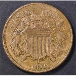 1871 2 CENT PIECE AU