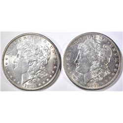 1883 & 81-S MORGAN DOLLARS BU
