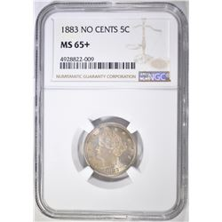 1883 NO CENTS LIBERTY NICKEL  NGC MS-65+