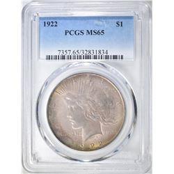1922 PEACE DOLLAR  PCGS MS-65
