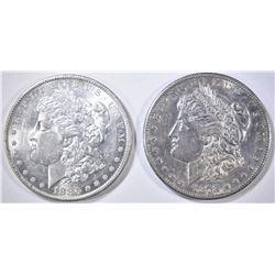 1878-S & 80-O MORGAN DOLLARS AU/BU