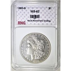 1883-S MORGAN DOLLAR RNG BU