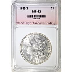 1886-S MORGAN DOLLAR WHSG BU