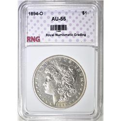 1894-O MORGAN DOLLAR RNG AU BU