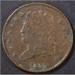 1835 HALF CENT  XF/AU