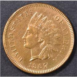 1867 INDIAN CENT  CH/GEM UNC