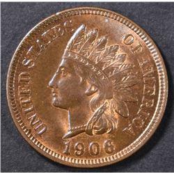 1906 INDIAN CENT  CH UNC