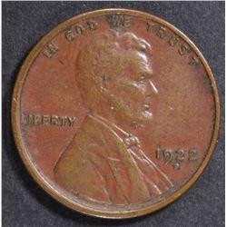 1922-D LINCOLN CENT  AU