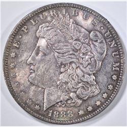 1888 MORGAN DOLLAR  GEM UNC   COLOR!!