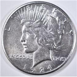 1924-S PEACE DOLLAR  CH BU