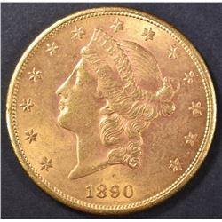 1890-S $20 GOLD LIBERTY  V CH BU