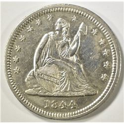 1844 SEATED LIBERTY QUARTER   BU