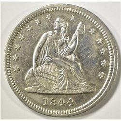 1844 SEATED LIBERTY QUARTER   BU