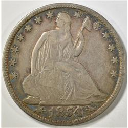 1854-O SEATED LIBERTY HALF DOLLAR  VF
