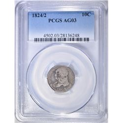 1824/2 BUST DIME PCGS AG-3
