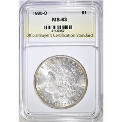 1880-O MORGAN DOLLAR OBCS CH BU