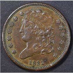 1832 HALF CENT AU