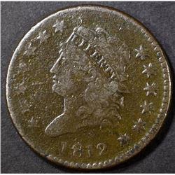 1812 LARGE CENT, FINE POROSITY