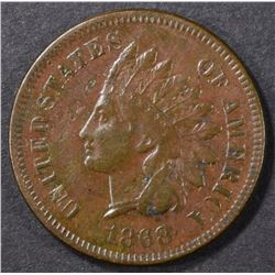 1868 INDIAN CENT VF/XF
