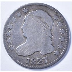 1827 CAPPED BUST DIME VG+