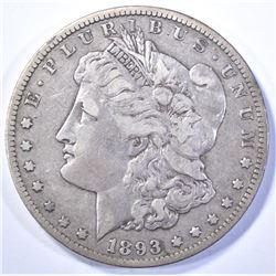 1893-CC MORGAN DOLLAR, XF