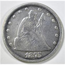 1875 20 CENT PIECE VG