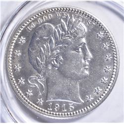 1915 BARBER QUARTER, GEM BU NICE!